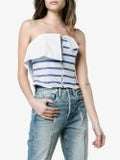 Natasha Zinko - Strapless Stripe Zip Top White - Women