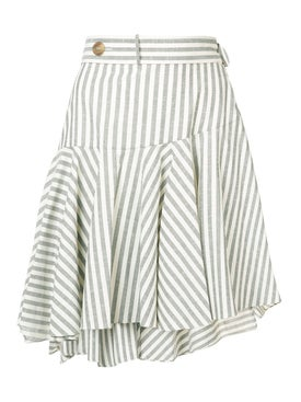 Loewe - Striped Skater Skirt - Women