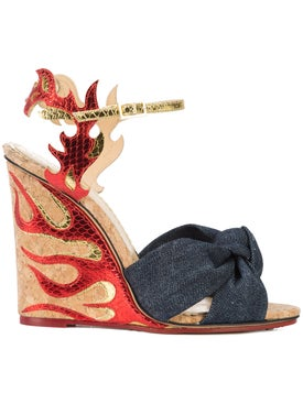 Charlotte Olympia - Flame Wedge Sandals - Women