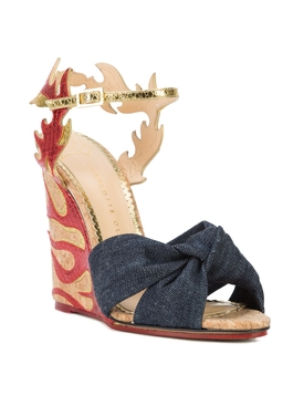 flame wedge sandals