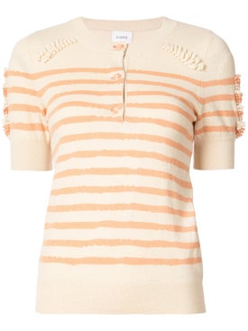 Barrie - Striped Button Jumper - Women