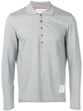 Thom Browne - Long Sleeve Jersey Polo - Men