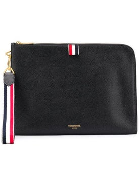 Thom Browne - Striped Strap Pouch Black - Pouch