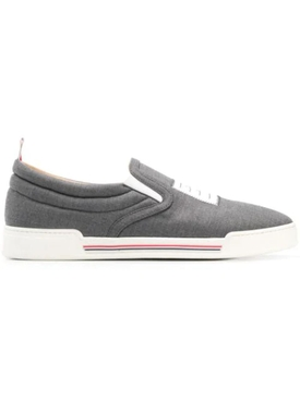 Thom Browne - 4-bar Paper Label Slip-on Trainer Grey - Men