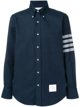 Straight fit 4-bar Solid Stripe Shirt NAVY
