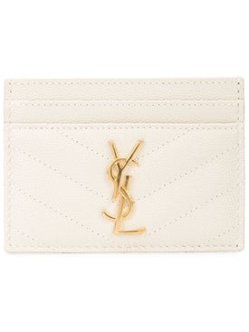 Saint Laurent - Monogram Cardholder White - Women