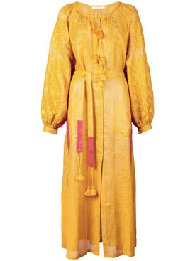Vita Kin - Embroidered Midi Dress Yellow - Women