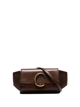 Chloé - The C Leather Belt Bag, Brown - Women