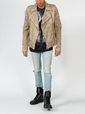 Balmain - Destroyed Biker Jacket - Men