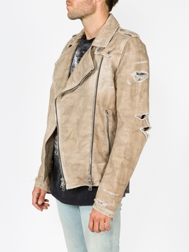 destroyed biker jacket
