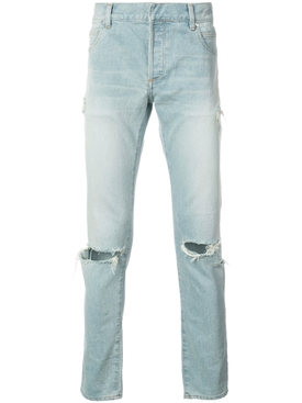 slim fit ripped jeans LIGHT BLUE