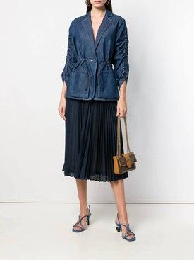 Fendi - Perforated Pleated Skirt - Midi