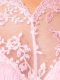 Christopher Kane - Gathered Trim Mesh Top Pink - Women