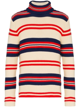 rear applique striped sweater MULTICOLOR