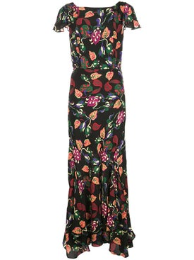 Saloni - Paisley Printed Dress - Women