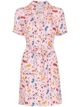 Hvn - Maria Miami Print Mini Dress - Mini