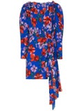 Magda Butrym - Lagos Floral Print Ruched Silk Mini Dress - Women