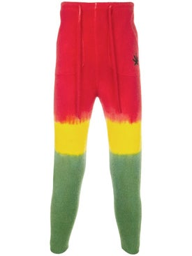 The Elder Statesman - Embroidered Multicolor Cashmere Pants - Men