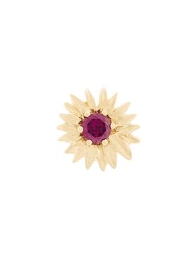 garnet unit earring