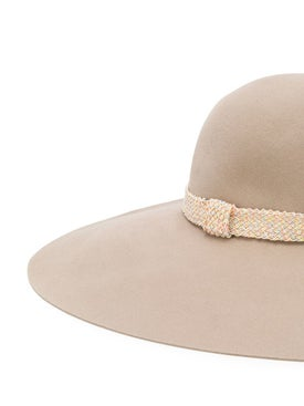 Maison Michel - Wide Brim Blanche Hat Neutral - Hats