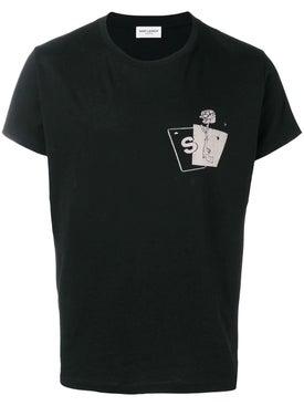 Saint Laurent - Gun Rose Grahic T-shirt Black - Men