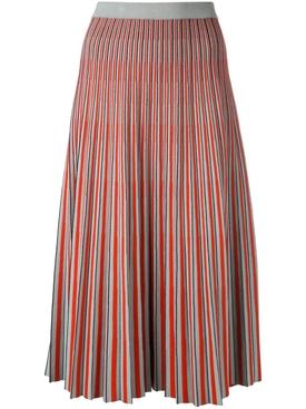 Jacquard Knit Skirt RED