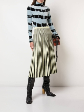 Jacquard Knit Skirt YELLOW