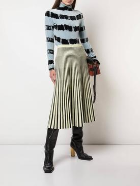 Jacquard Knit Skirt Yellow