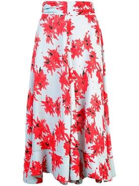 Proenza Schouler - Splatter Floral Seamed Skirt - Midi