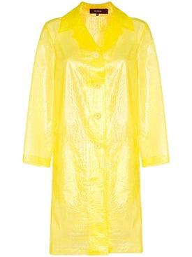 Sies Marjan - Croc-effect Plastic Coat Yellow - Clothing