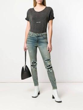Amiri - Mx1 Leather Patch Jeans Black - Women