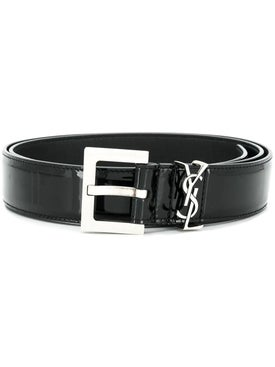 Saint Laurent - Classic Logo Buckle Belt - Men