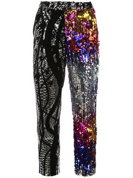 Halpern - Multi-pattern Sequined Trousers - Women
