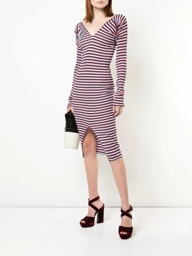 Sonia Rykiel - Striped Stretch Midi Dress - Women