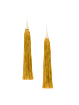 Eddie Borgo - Long Silk Tassel Earrings - Women