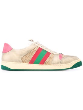 Gucci - Gg Monogram Screener Sneakers Pink - Low Tops