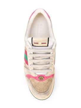 GG monogram screener sneakers PINK