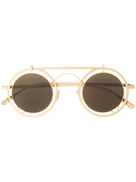 Mykita - Gold Round Steampunk Sunglasses - Women