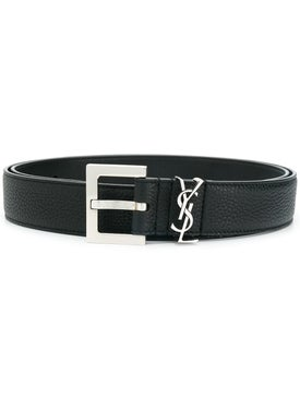 Saint Laurent - Leather Monogram Belt - Men