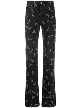Balenciaga - Eiffel Tower Print Slim Jeans - Men