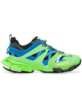 Balenciaga - Lime Green Track Sneakers - Men