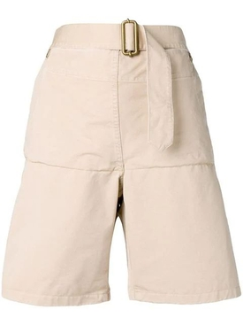 Fold front utility shorts