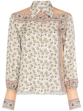 floral paisley print silk shirt MULTICOLOR