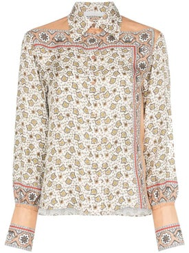 Chloé - Floral Paisley Print Silk Shirt Multicolor - Women