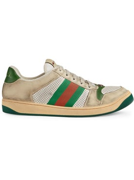 Gucci - Green And Red Screener Sneakers - Men
