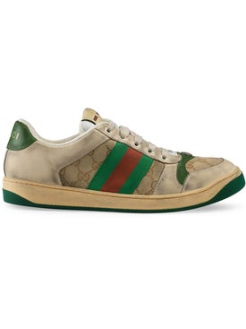 Gucci - Gg Monogram Screener Sneakers Green - Men