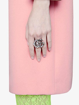 Gucci - Crystal Double G Ring - Women