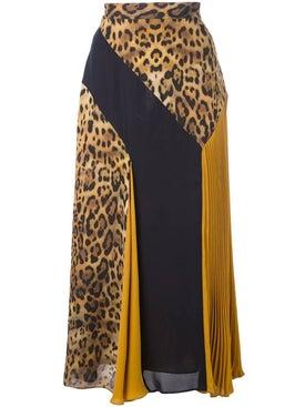 Cushnie - Leopard Pattern Panelled Skirt Multicolor - Midi