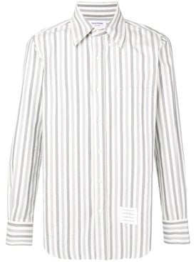 Thom Browne - University Stripe Herringbone Shirt Grey - Men