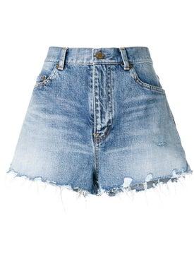 Saint Laurent - Frayed Shorts - Women